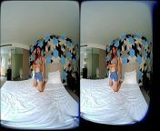 VRpussyVision.com - The first time and still pretty shy from bra and panty shown in short