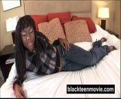 Ebony teen amateur fucking white boy in Black Hardcore Video from white teens fucking