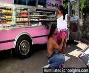 HumiliatedSchoolGirls - Sexy black waitress gives full service to a big dick from fananad niko shidan