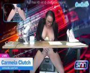 News Anchor Carmela Clutch Orgasms live on air from 500ujole news anchor sexy n