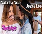 Twistys - Thicc inked lesbian Jessie Lee seduces busty milf Natasha Nice from nimasha