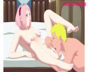 Sakura x Naruto Hentai (All characters are over 18) from sasuke xxx sakura