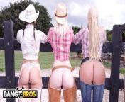 BANGBROS - On The Dude Ranch With Rachel Starr, Karen Fisher and Marissa from bunda neno warisman fake nude